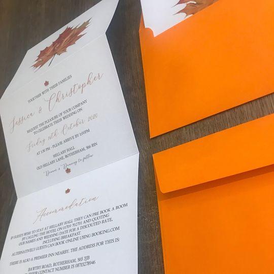 A6 Concertina Fold Invitation