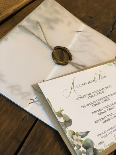 Vellum with Wax Seal Set