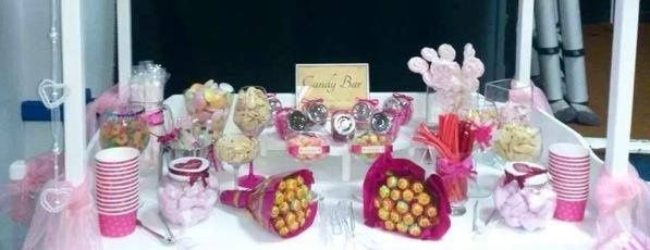 Very pink candy buffet - Idea of colour scheme and layout