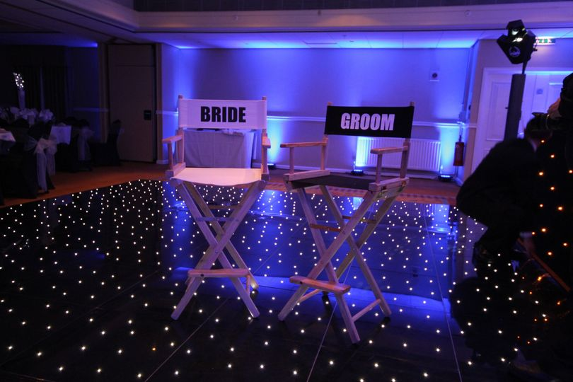The legendary bride and grooms chairs