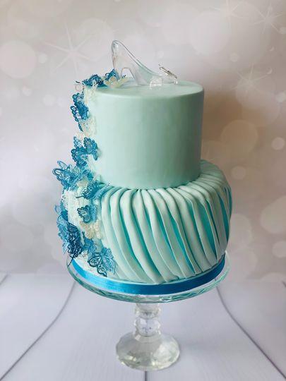 Cinderella blue ruffle