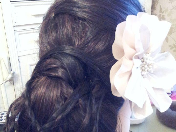 Bun with plaits bridal