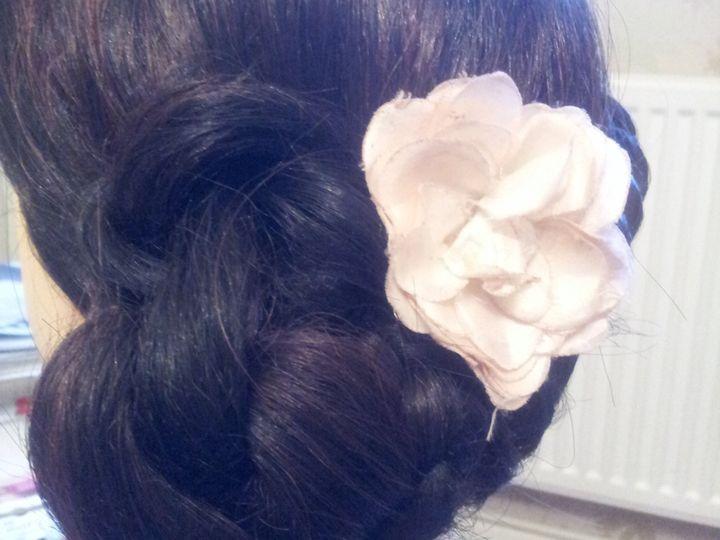 Side knot bun bridal
