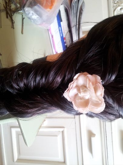 Pulled out fishtail plait