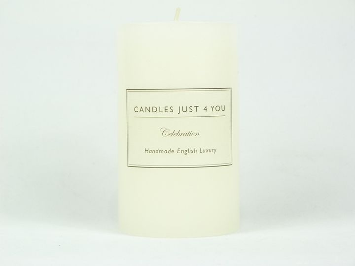 Unscented Pillar Candle 10cm's