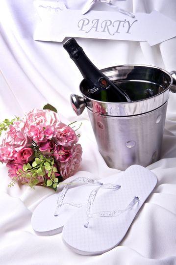 wff flowers champagne flip flops 4 108742