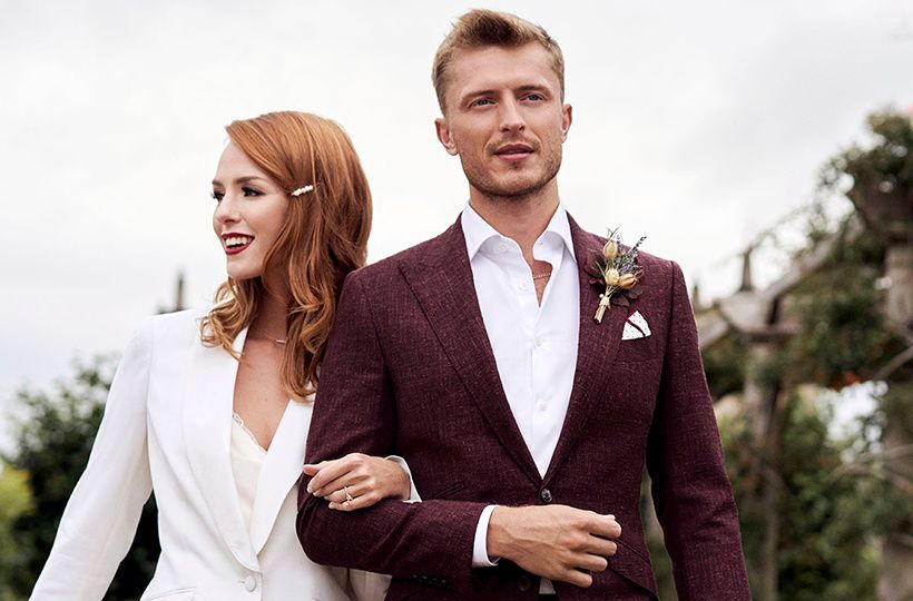 Relaxed, contemporary-looking two-piece suit