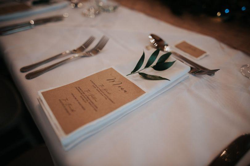 Rustic calligraphy menu