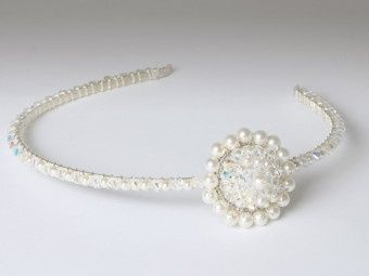 Crystal & Pearl Brooch Side Tiara