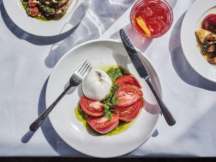 Tomato and mozzarella starter