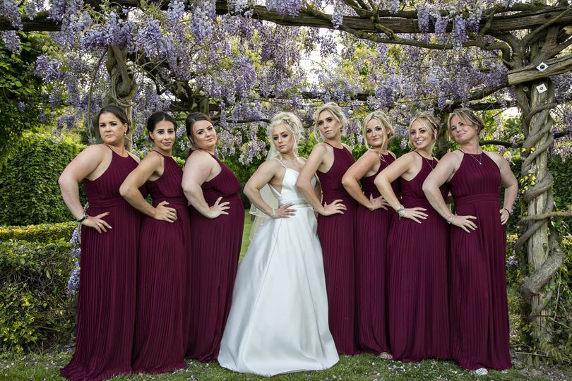 Burgundy formal gowns