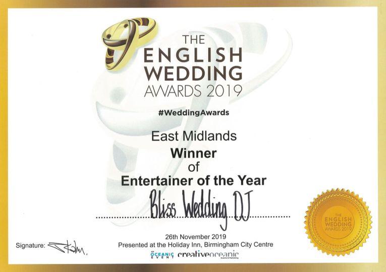 English Wedding Award 2019