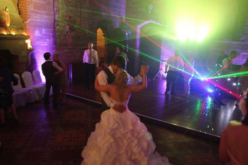 Newlyweds first dance