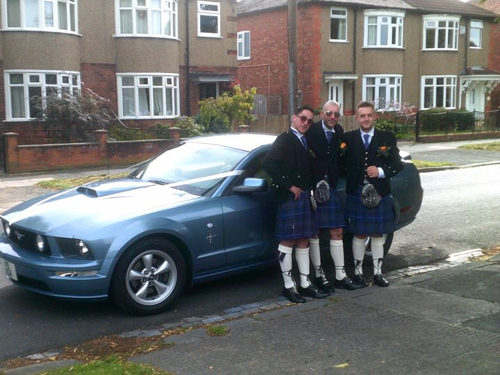 Blue Mustang and kilts!