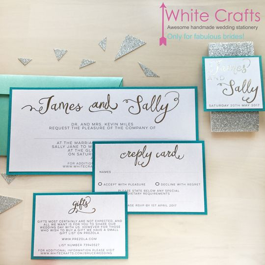 Turquoise & silver foil