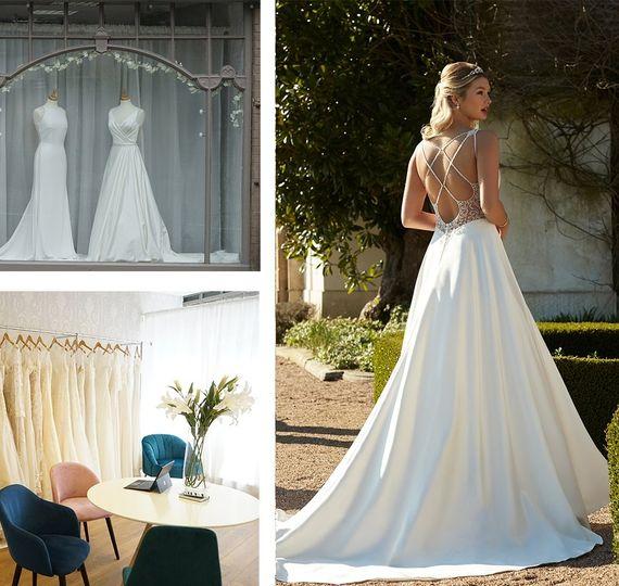Full skirt wedding gown