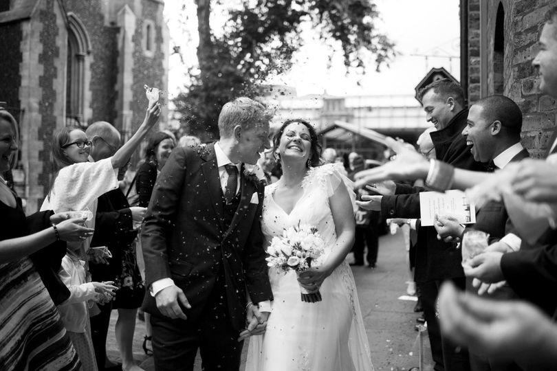 Newlyweds emerge - UK Wedding Photography