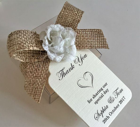 Personalised favour tags