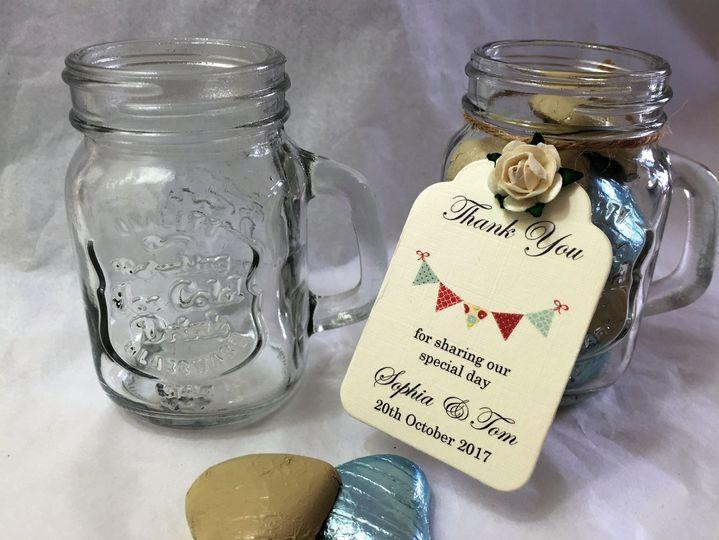 Mason jar shot glass favours