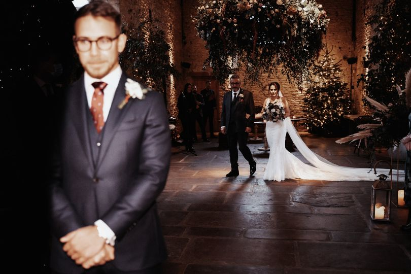 Bride and father aisle