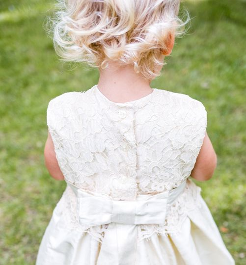 'Ianthe' silk flower girl dress by Lychgate