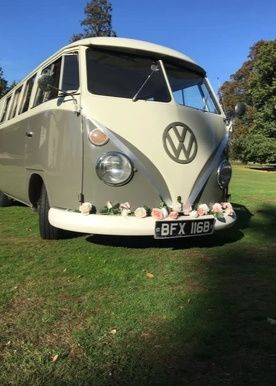 Folkswagon wedding campervan