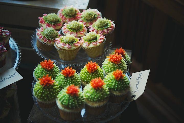 'Succulents' Wedding Cupcakes