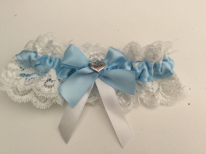 Something blue charm garter