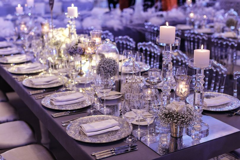 Winter inspired table set up