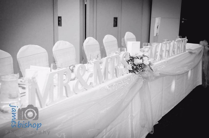 Top table & lettering