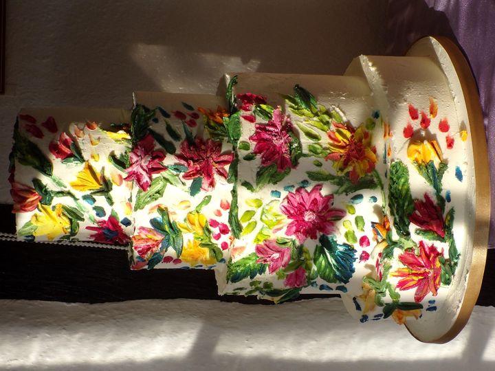 Textured impressionist flowers