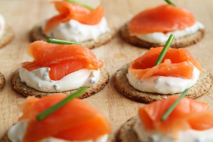 Salmon and cream cheese bellini