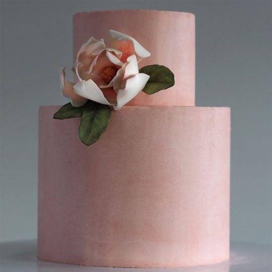 Two tier with sugar magnolia