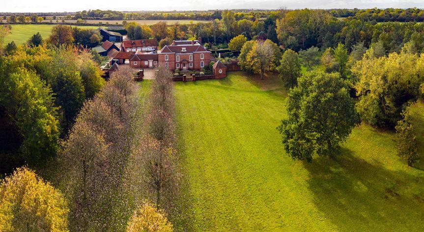 Aerial view of North Crawley Estate