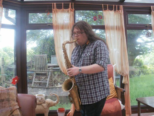 James on sax