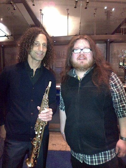 James with Kenny G