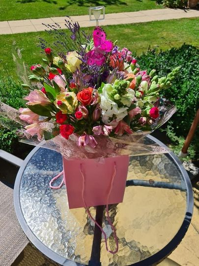 Hand tied presentation bouquet