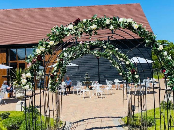 Flower arch to Courtyard