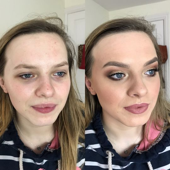 Bridal trial Before&after