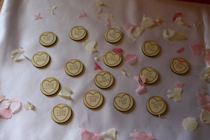 """15x """"Love Hearts"""" in 3mm ply"""