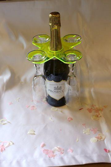 Acrylic Wineglass holderx4 gla