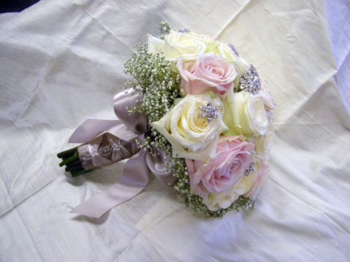 Vintage Bridal Bouquet With Jewellery