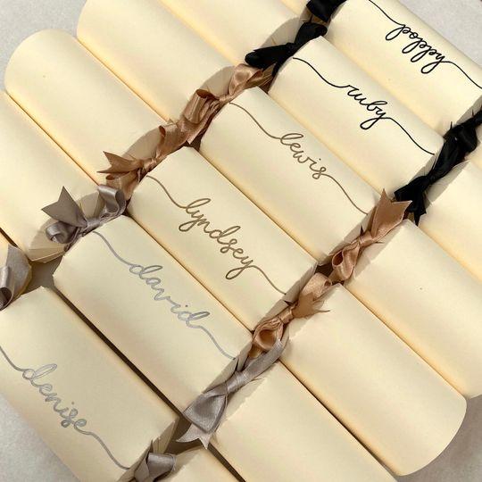 Handwritten ivory crackers