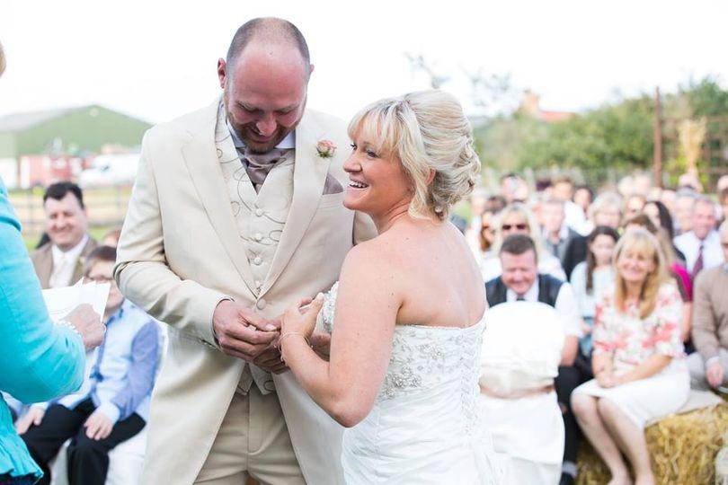 Farmland wedding