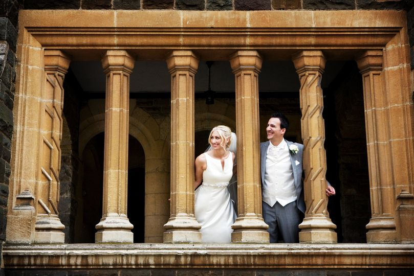 Bride & groom at Wycombe Abbey
