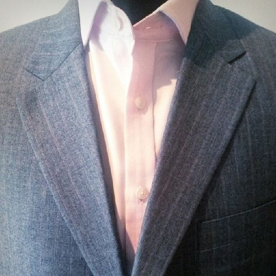 Blue with a Pink Pinstripe