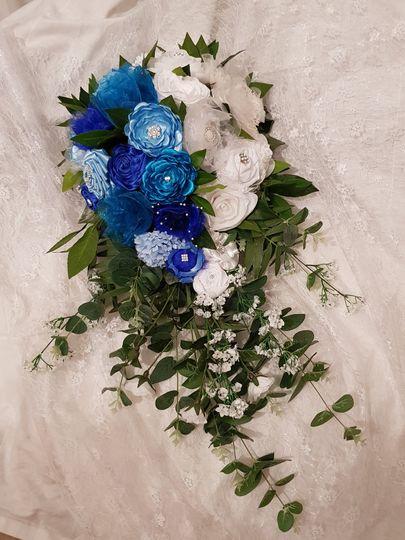 Handmade ribbon flower bouquet