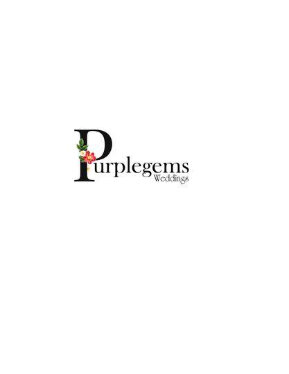 purplegems weddings logo 3 4 109058 159803236246349