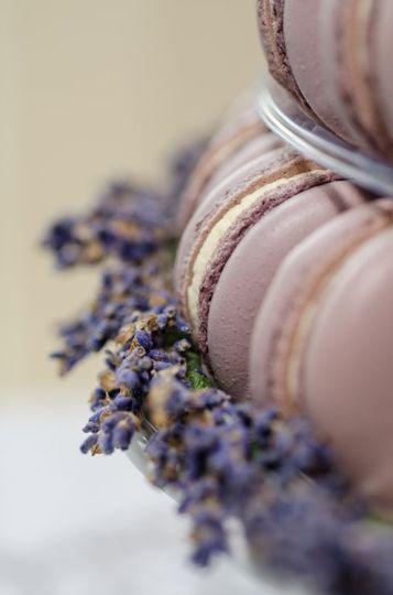 Lavender macaron tower