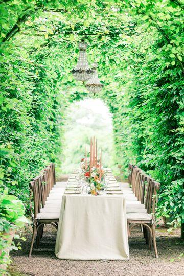 Wedding Breakfast Under Arches